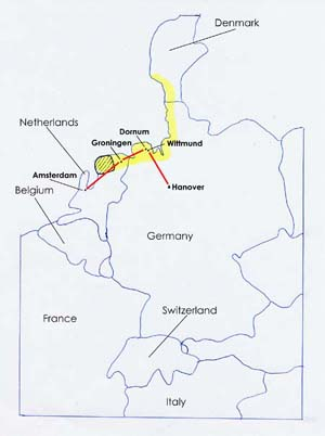 Map - Schwitters' Family History