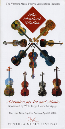"The Festival Violins Brochure Cover - ""Blue Notes"" Violin"