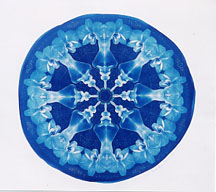 """Untitled (Orchid Mandala)"" - Cyanotype by Lis J. Schwitters"