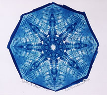 """Winter's Star"" - Cyanotype by Lis J. Schwitters"