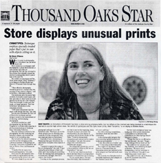 D'Amore, Nicole: Store displays Unusual Prints Ventura County Star, August 9, 2001, p B3, ill.