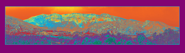 """Panoramic Topa Topa"" - Pigment Print by Lis J. Schwitters"